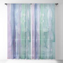 29     190907   Watercolor Abstract Painting Sheer Curtain