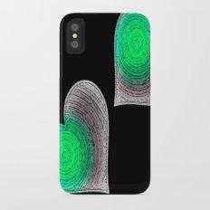 Groovy Hearts iPhone X Slim Case