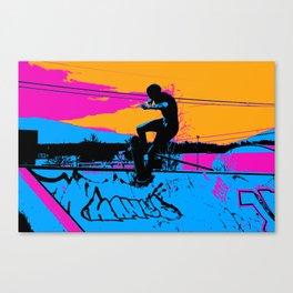 On Edge - Skateboarder Canvas Print