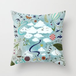 Let's Take the Train Throw Pillow