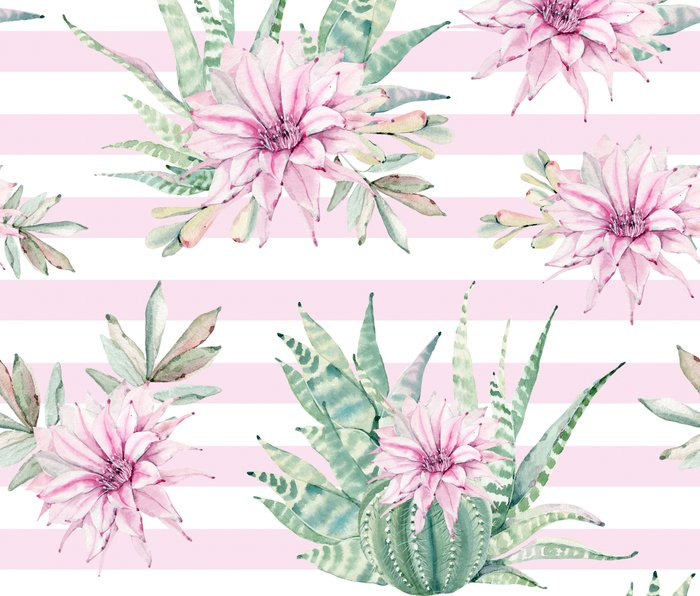 Simply Striped Cactus Desert Rose Pink Metal Travel Mug