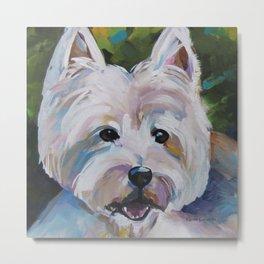 Westie Impressionism Pet Portrait Larsen 1 Metal Print