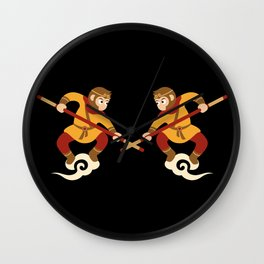 Monkey King - the real and the impersonator Wall Clock