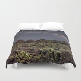 Desert Nightscape Duvet Cover