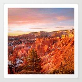 Warmth of Sunrise (Bryce Canyon, Utah) Art Print
