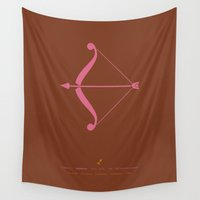 archer Wall Tapestries featuring Sagittarius Zodiac / Archer Star Sign Poster by Thoth Adan