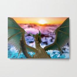 Ice Dragon 2 Metal Print