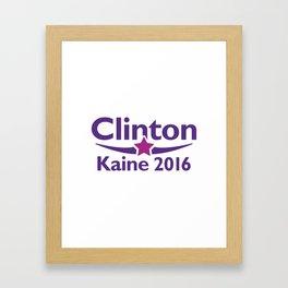 Clinton Kaine 2016 Framed Art Print