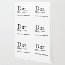 Diet always start tomorrow Wallpaper