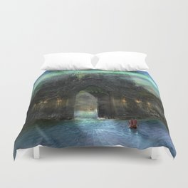 The Jade Gates Duvet Cover