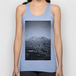 Mount St. Helens in Black and White - Holga Photograph Unisex Tank Top