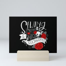 Sewing is the New Rock & Roll Mini Art Print