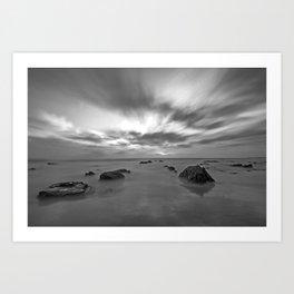 Crystal Cove Black & White Art Print
