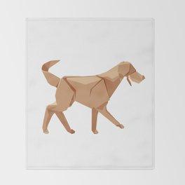 Origami Dog Throw Blanket