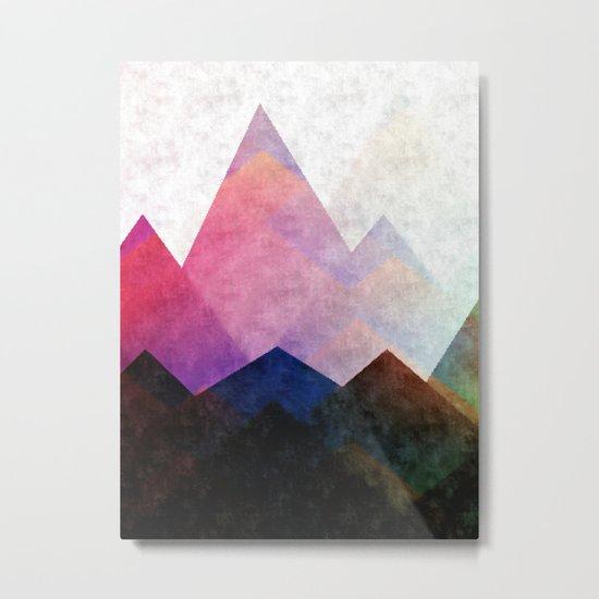 Fading Peaks Metal Print