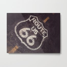 Historic U.S.  old Route 66 sign. Metal Print