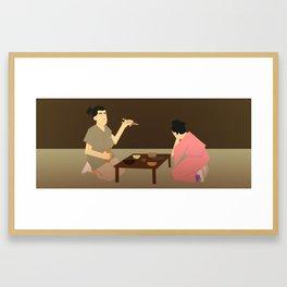 Beyond the waterfall Framed Art Print