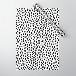 Dalmatian Spots (black/white) Wrapping Paper