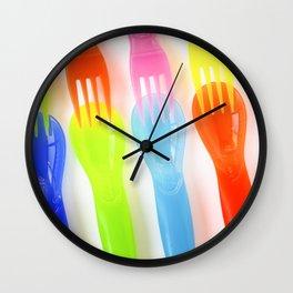 Plastic Cutlery Wall Clock