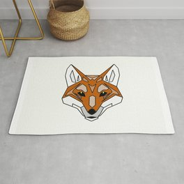 Geometric Fox - Abstract, Animal Design Rug
