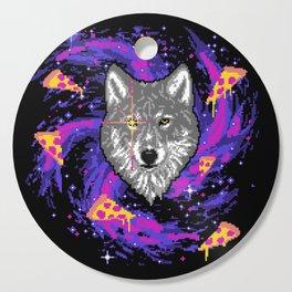 Galactic Pizza Wolf Cutting Board