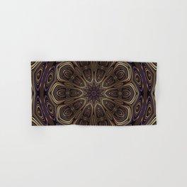 An Absract Kaleidoscope Flower of Bronze and Purple Highlights Hand & Bath Towel
