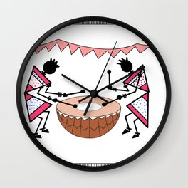 Saura_Tribal_Art_03 Wall Clock