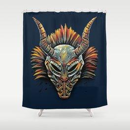 Killmonger Tribal Mask Shower Curtain