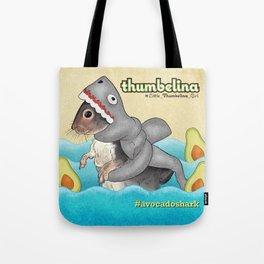 Little Thumbelina Girl: avocado shark Tote Bag