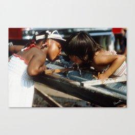 Street Scenes - Kids Thirsty Canvas Print