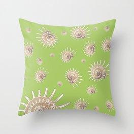 solaris on lime Throw Pillow