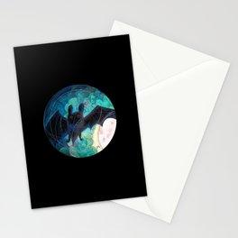 Round Bat Stationery Cards