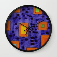 frames Wall Clocks featuring Illuminated Frames by Heidi Capitaine