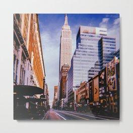 New York City // Retro 23 Metal Print