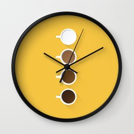 Coffee + Simplicity Wall Clock