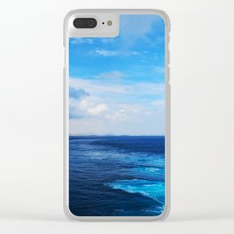 50 shades of Blue i Clear iPhone Case