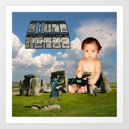 StoneHenge Explained Art Print