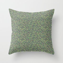 Lime Green Brown Army Camouflage Throw Pillow