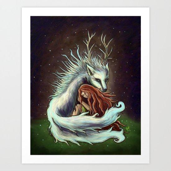 Spirit Wolf Art Print