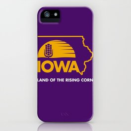 Iowa: Land of the Rising Corn - Purple and Gold Edition iPhone Case