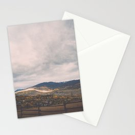 Horse Pasture on the side of a mountain in Colorado Stationery Cards
