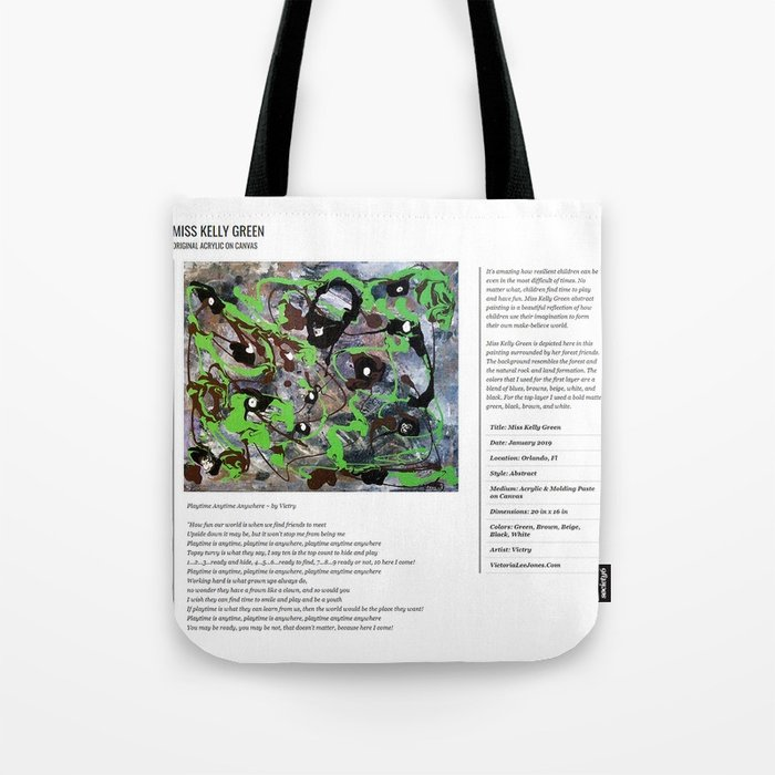 Miss Kelly Green / Art Stories Tote Bag