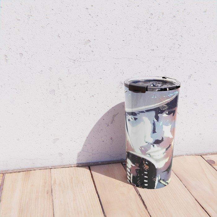 Tom Petty. legend. painting. print. Travel Mug
