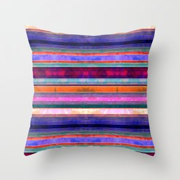 Serape Stripe Mexicali Throw Pillow
