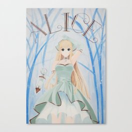 Fairy in the mysterious forest Canvas Print