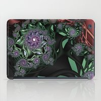 novelty iPad Cases featuring Lilac Fractal Garden by Moody Muse
