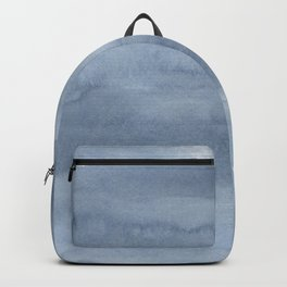 Pastel blue gray white watercolor hand painted ombre Backpack