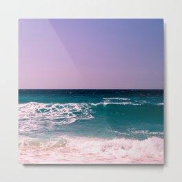 Azure Waves Metal Print