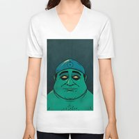 watchmen V-neck T-shirts featuring It's Always Sunny in Watchmen - Frank by Jessica On Paper