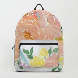 Loose Spring Floral watercolor bouquet Backpack